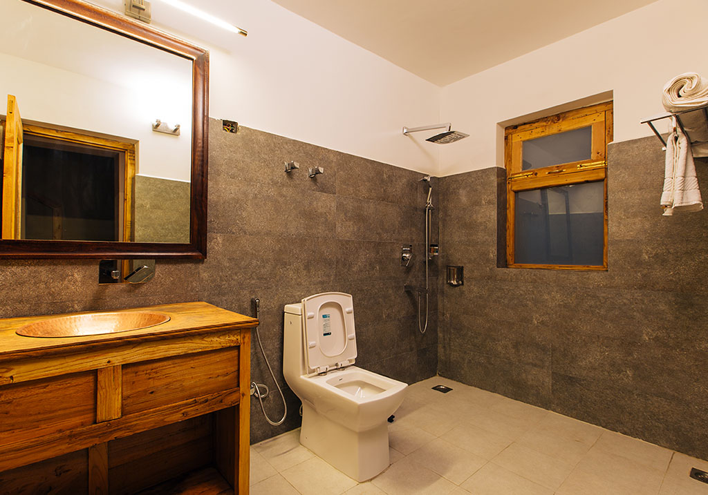 Bathroom facility of the Duplex