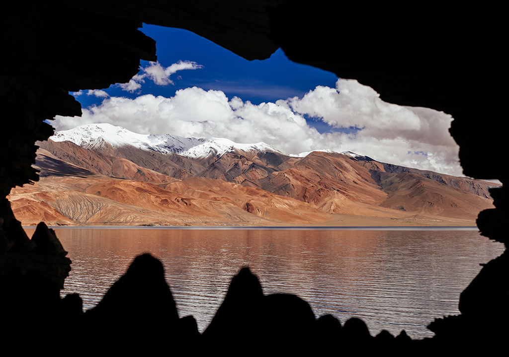 Hidden cave near Pangong lake