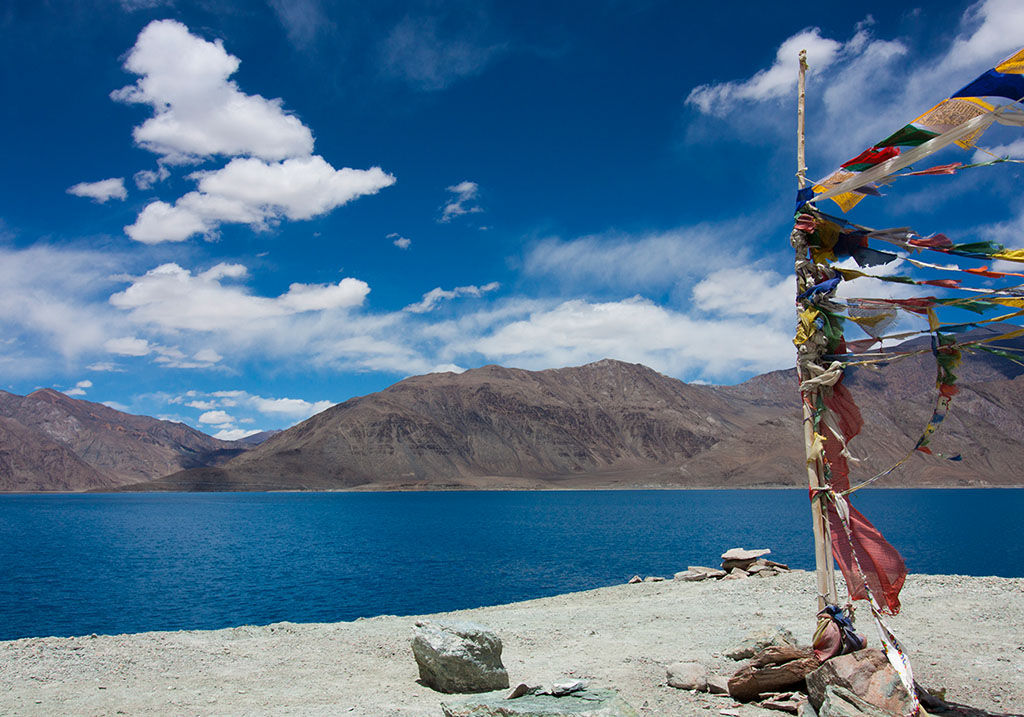 View of pangong lake