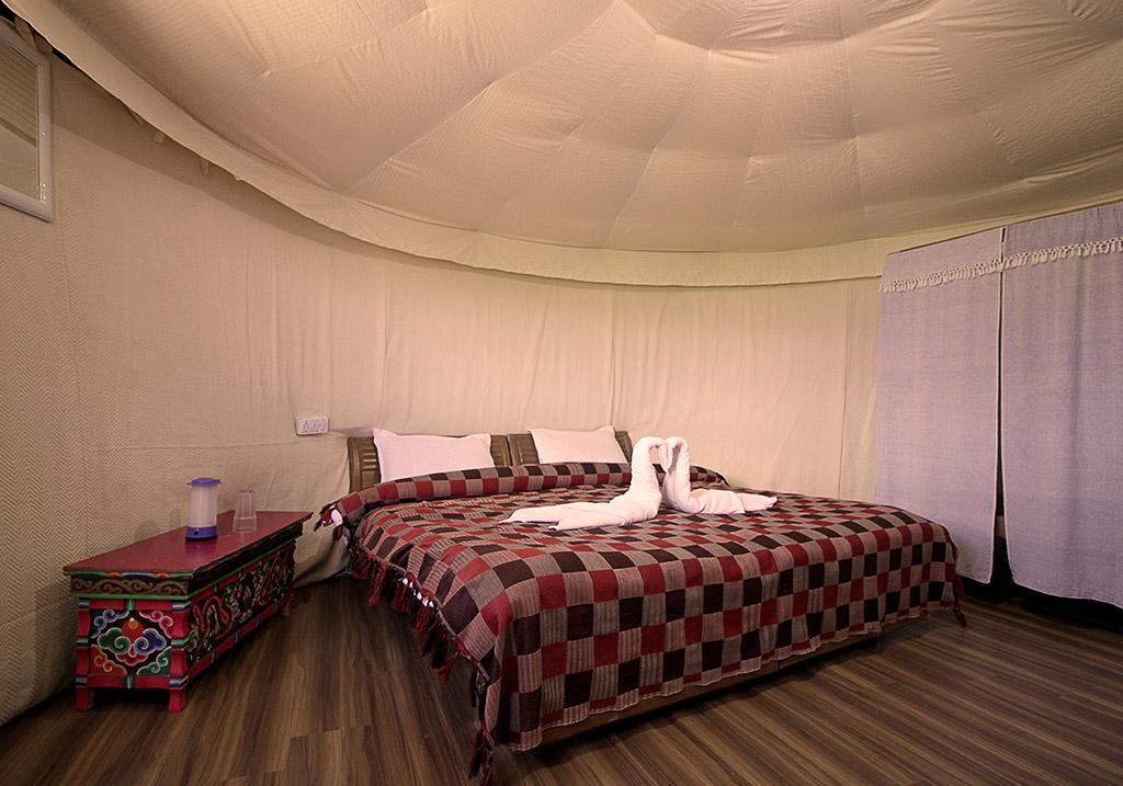 Accommodations at the Pangong Comfort