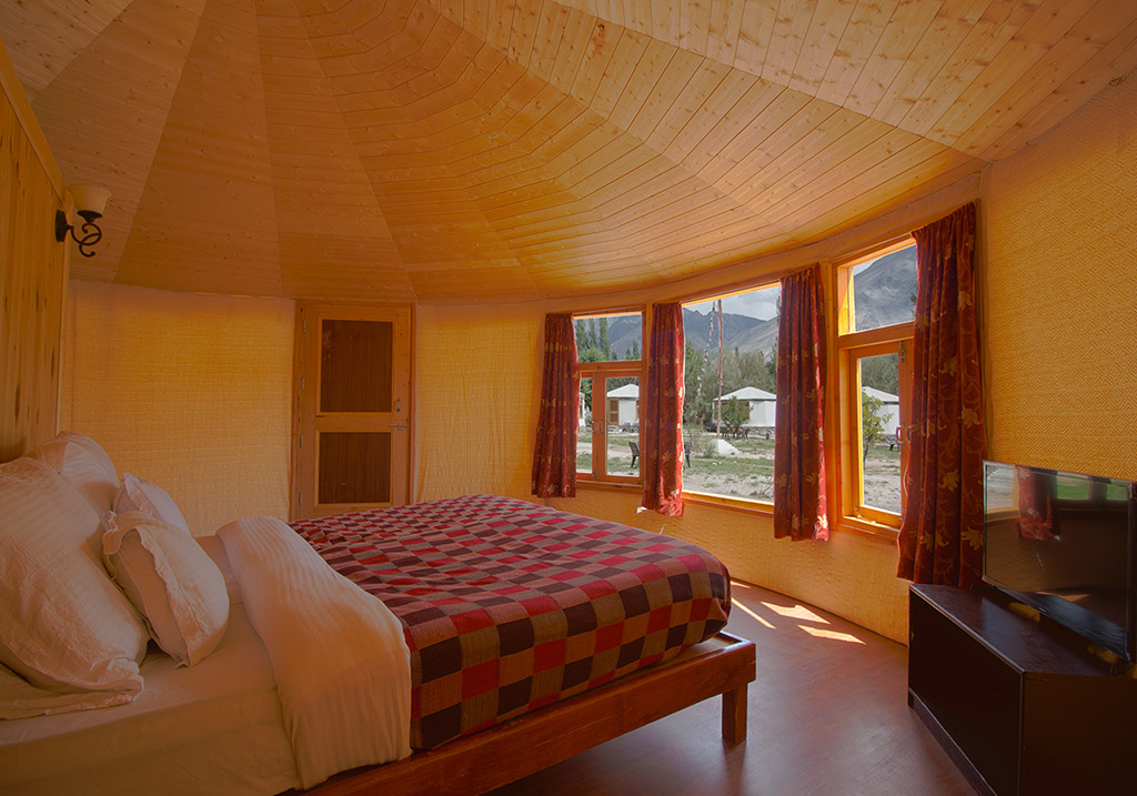 Accommodations at the Nubra Sarai