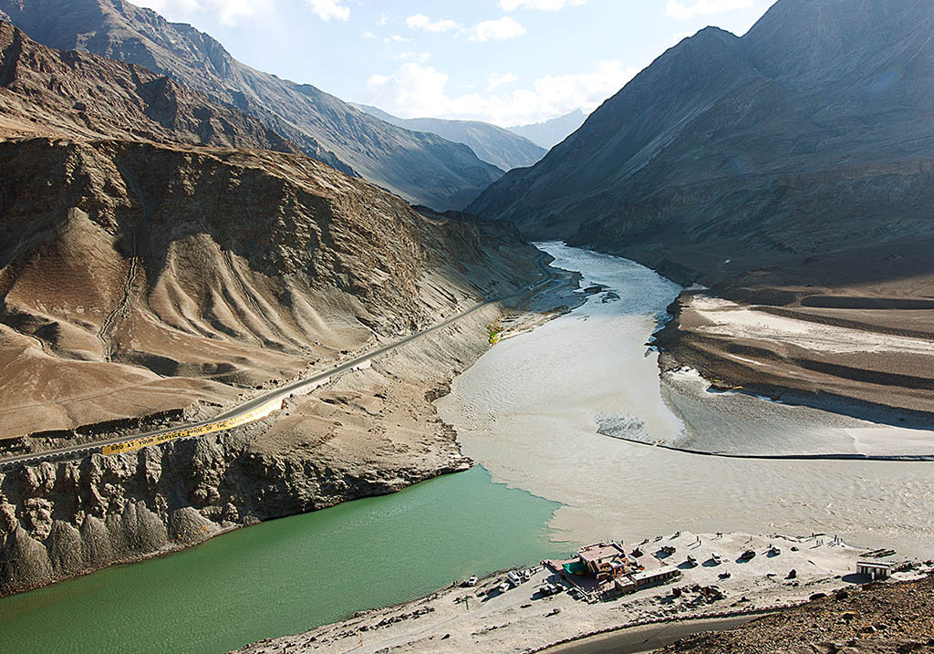 Sangam - Confluence of the Indus and Zanskar Rivers