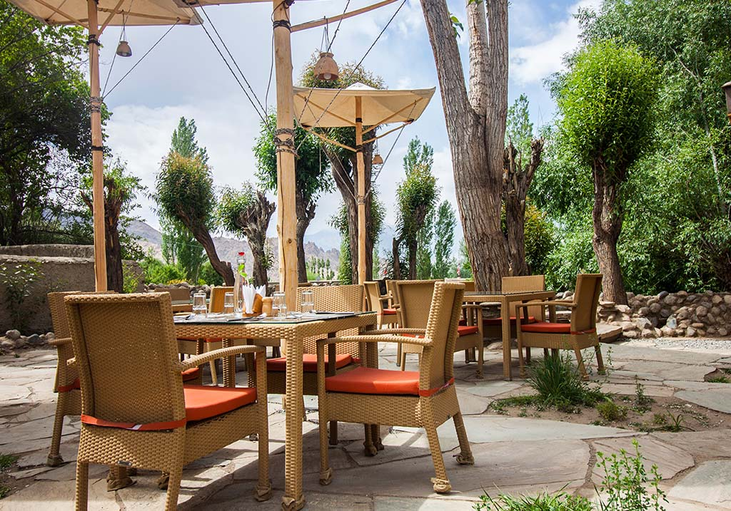 Exterior dining area of Chansa